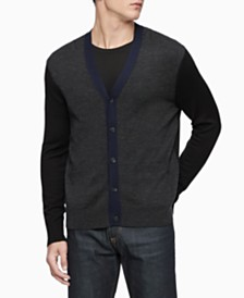 Calvin Klein Men's Colorblocked Cardigan Sweater