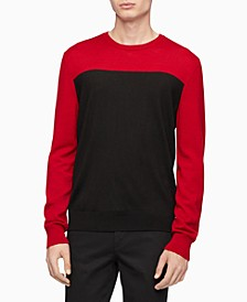 Calvin Klein Men's Merino Colorblock Sweater