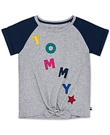 Little Girls Tie-Front T-Shirt