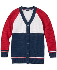 Tommy Hilfiger Big Girls Colorblocked Cardigan