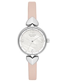 Women's Hollis Vellum Leather Strap Watch 30mm