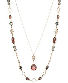 "lonna & lilly Gold-Tone Stone 34"" Layered Necklace"
