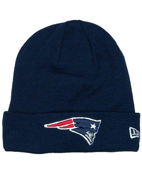 New Era New England Patriots Basic Cuff Knit Hat