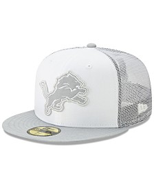 New Era Detroit Lions White Cloud Meshback 59FIFTY Cap