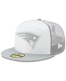 New England Patriots White Cloud Meshback 59FIFTY Cap