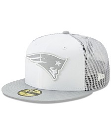 New Era New England Patriots White Cloud Meshback 59FIFTY Cap