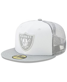 New Era Oakland Raiders White Cloud Meshback 59FIFTY Cap
