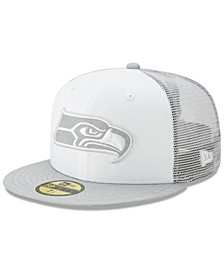 Seattle Seahawks White Cloud Meshback 59FIFTY Cap