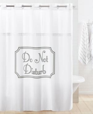 Hookless Do Not Disturb Shower Curtain Bedding
