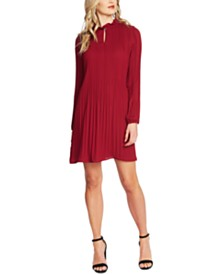 CeCe Pleated Shift Dress