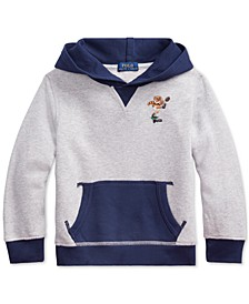 Toddler Boys Polo Bear Cotton Fleece Hoodie