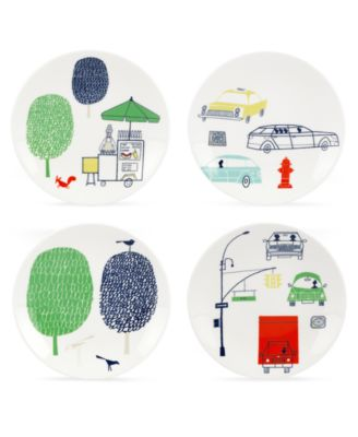 Dinnerware, Set of 4 About Town Tidbit Plates