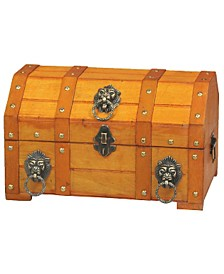 Vintiquewise Pirate Treasure Chest with Lion Rings