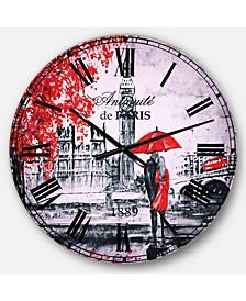 Vintage Oversized Metal Wall Clock