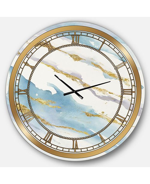 Designart Posh and Lux Oversized Metal Wall Clock