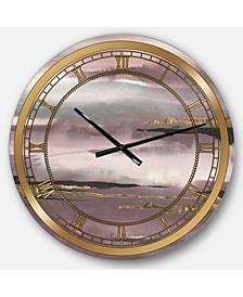 Glam Oversized Metal Wall Clock