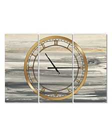 Glam 3 Panels Metal Wall Clock