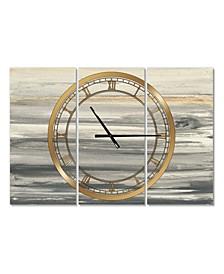 Glam 3 Panels Metal Wall Clock