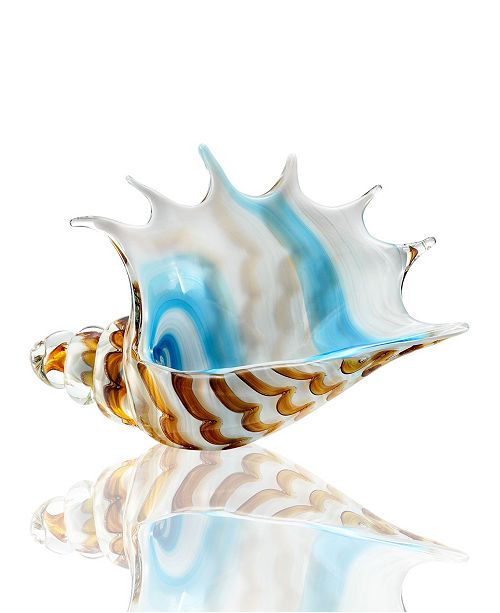 SPI Home Striped Conch Shell Sculpture