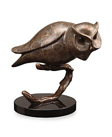 SPI Home Owl on Branch Sculpture
