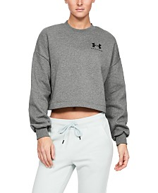 Under Armour Rival Fleece Cropped Sweatshirt