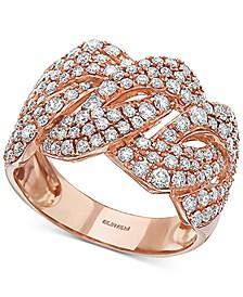 EFFY® Diamond Wavy Statement Ring (1-1/2 ct. t.w.) in 14k Rose Gold