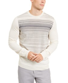 Aflani Men's Shade Stripe Crewneck Sweater, Created for Macy's