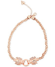 "Rose Gold-Tone Crystal Dragon Collar Necklace, 16"" + 2"" extender"