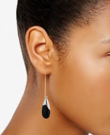 Silver-Tone Semiprecious Bead Drop Earring
