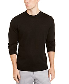 Men's Merino Blend Solid Crewneck Sweater, Created for Macy's