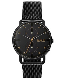 Men's Horizont Black Stainless Steel Mesh Bracelet Watch 42mm