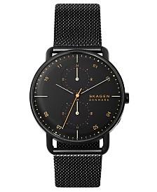 Skagen Men's Horizont Black Stainless Steel Mesh Bracelet Watch 42mm