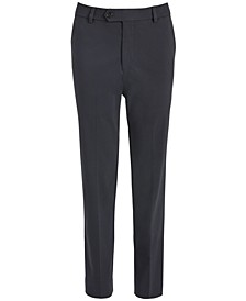 Big Boys Classic-Fit Stretch Charcoal Gray Twill Dress Pants