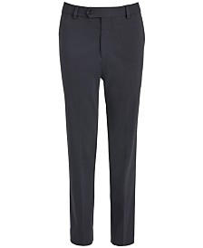 Lauren Ralph Lauren Big Boys Classic-Fit Stretch Charcoal Gray Twill Dress Pants