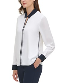 Tommy Hilfiger Piped-Trim Shirt