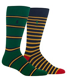 Men's 2-Pk. Striped Socks