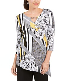 JM Collection Embellished Asymmetrical Tunic, Created for Macy's
