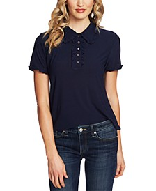Ruffled Short-Sleeve Polo