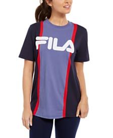 Fila Victoire Cotton Colorblocked T-Shirt