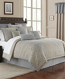 Baylen Reversible King 4 Piece Comforter Set