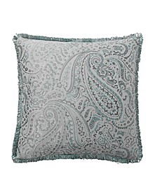 "Landon Aqua 18"" X 18"" Square Decorative Pillow"