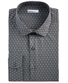Bar III Men's Slim-Fit Stretch Art Deco Floral Dress Shirt, Created for Macy's