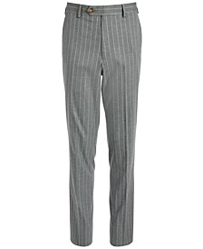 Big Boys Classic-Fit Stretch Gray Stripe Suit Pants