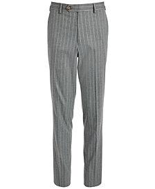 Lauren Ralph Lauren Big Boys Classic-Fit Stretch Gray Stripe Suit Pants