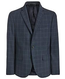 폴로 랄프로렌 보이즈 자켓 Lauren Ralph Lauren Big Boys Classic-Fit Stretch Navy Blue Windowpane Suit Jacket,Navy