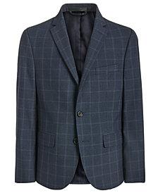 Lauren Ralph Lauren Big Boys Classic-Fit Stretch Navy Blue Windowpane Suit Jacket