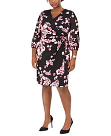 INC Plus Size Printed Wrap Dress, Created for Macy's