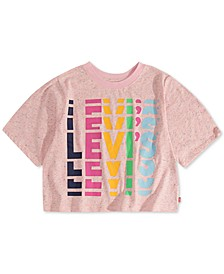 Big Girls High-Rise Rainbow-Logo T-Shirt