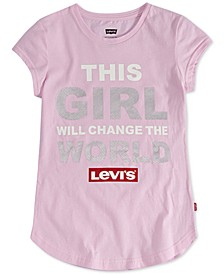 Toddler Girls This Girl Will Change The World T-Shirt
