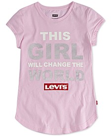 Little Girls This Girl Will Change The World T-Shirt